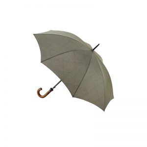 Khaki Traditional Walking Umbrella open