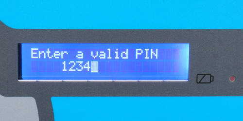Pinpod alpha-numeric display