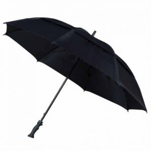 large windproof umbrella - MaxiVent Golf Umbrella - Black