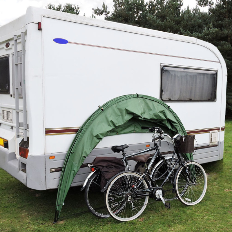 A folding shed for your caravan or motorhome.