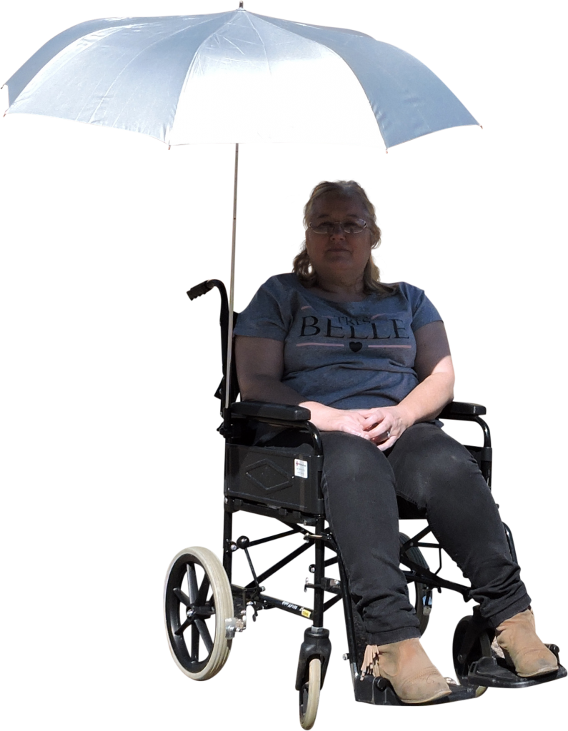 Outdoor Mobility Eazy-Shade UV Protective Wheelchair Parasol