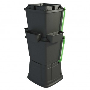 Black 2 Tier Rainwater Collection Water Butt