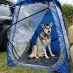 Under The Weather Shelter Tent with dog