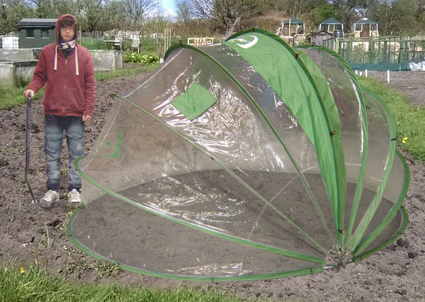 HortiHood 180 folding PVC greenhouse community garden