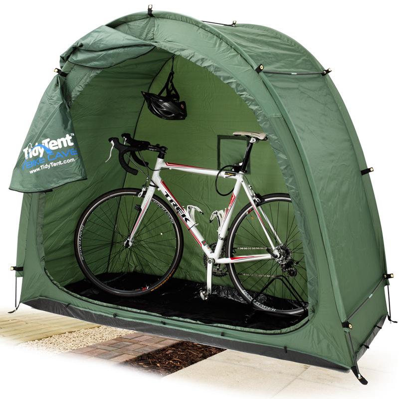 bike tent with bike cutout