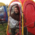 Under The Weather Shelter Tent smiling man