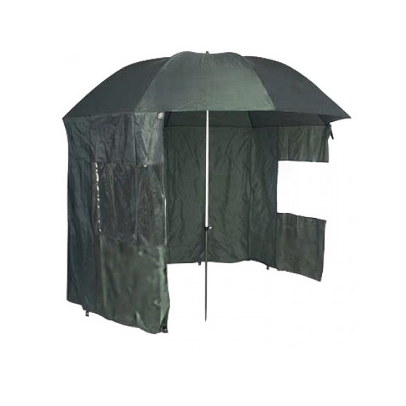 Fishing Umbrella with zip-on detachable wind shelter cut-out