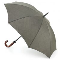 Khaki Traditional Walking Umbrella open