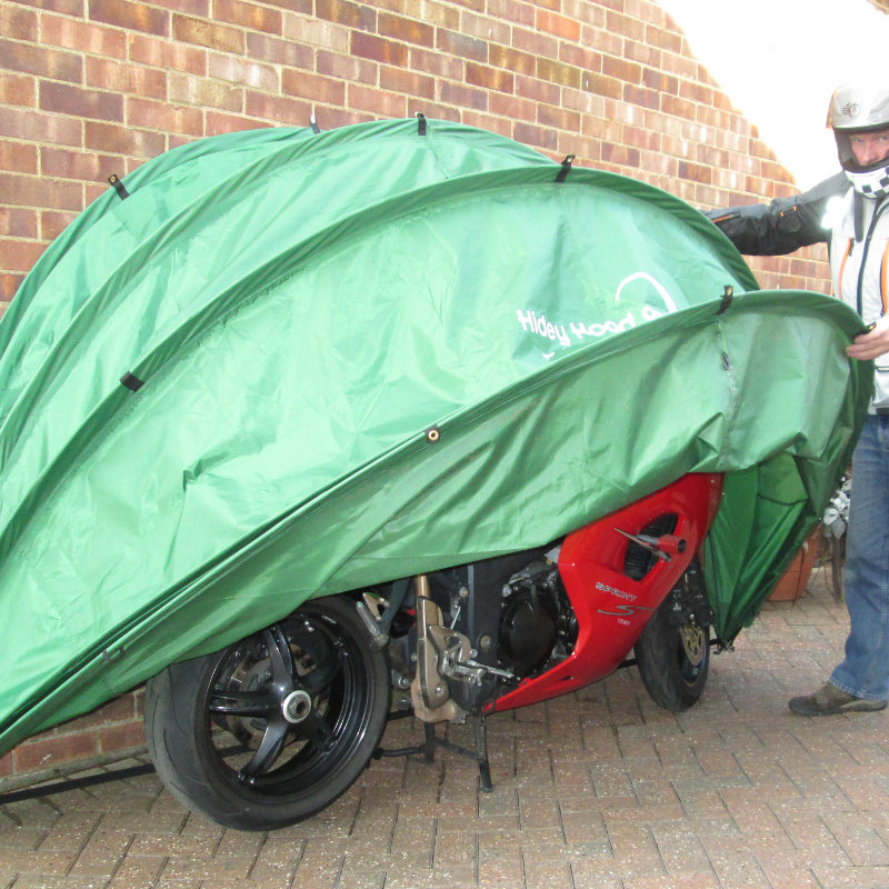 Hidey hood hideyhood 90 outdoor storage scooter shelter cover - Motorcycle foldable garage tent cover ...