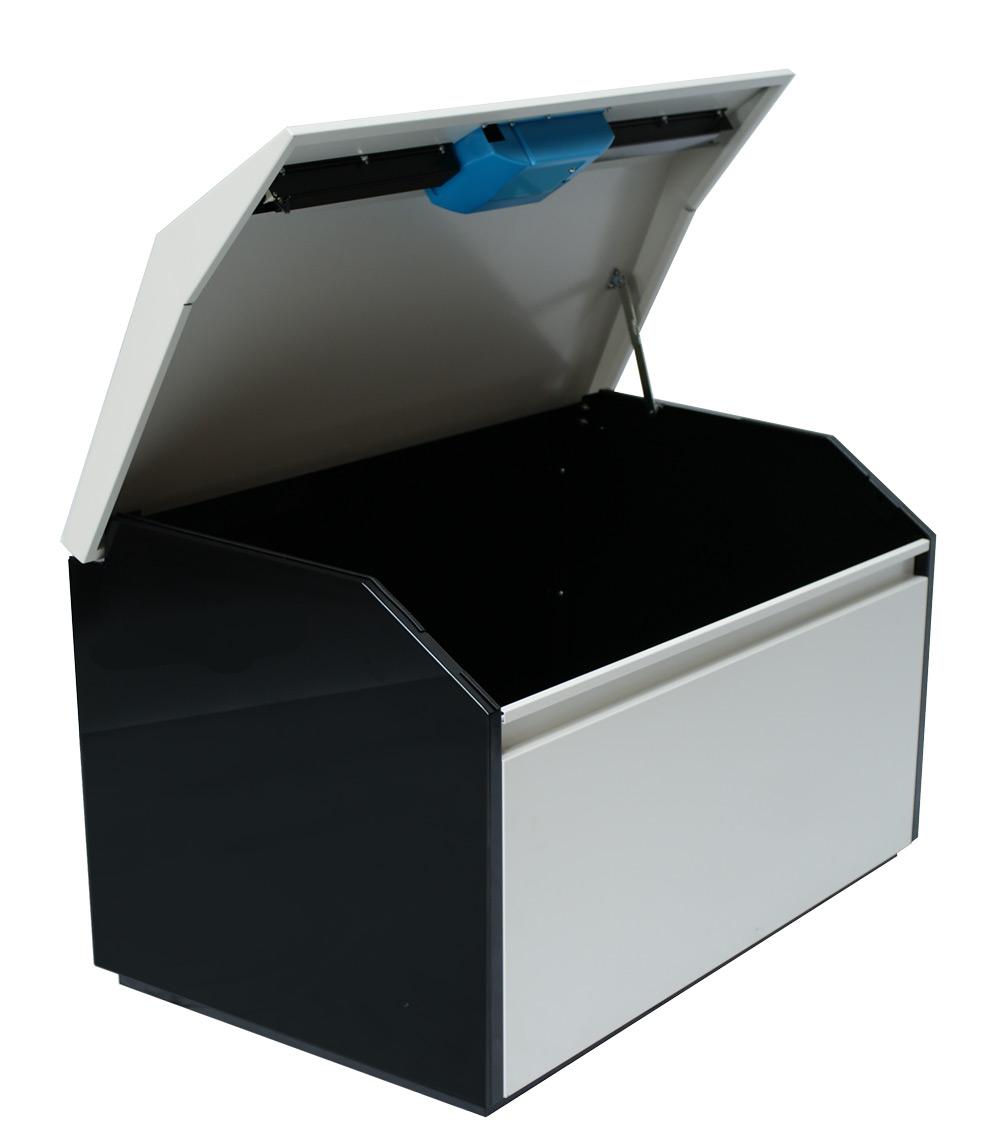 Large Parcel Delivery Box Open Cutout