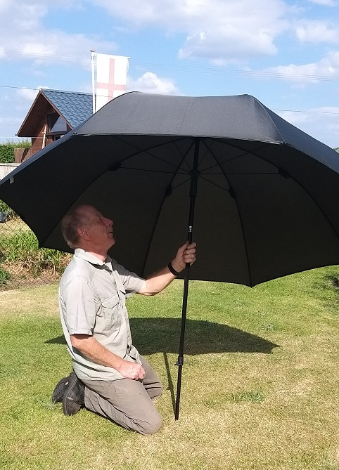 Rob McAlister Fishing Umbrella with wind shelter removed