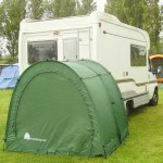 TidyTent Xtra by caravan outside