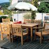 UV garden parasol on table