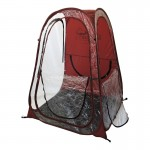 Under The Weather Shelter Tent maroon open no roof
