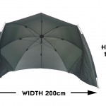 Bivvy Brolly Dimensions