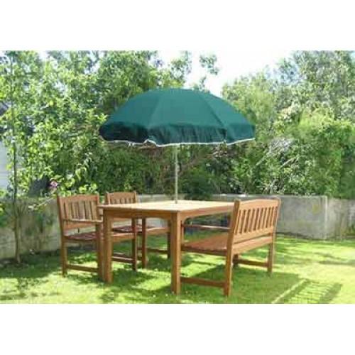 forest green garden parasol