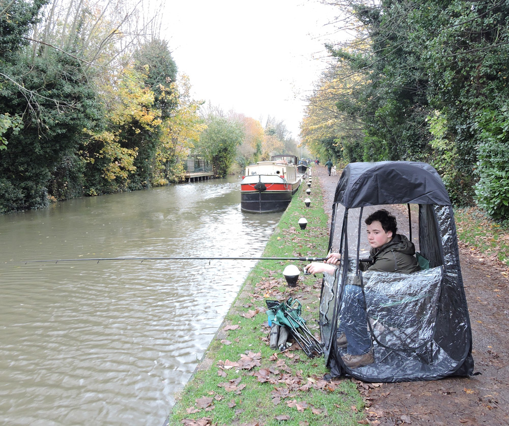 Under The Weather Shelter Tent fishing by canal