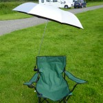 clamp-on UV sun shade on chair