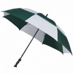 large golf umbrella - MaxiVent Golf Umbrella - Green and White