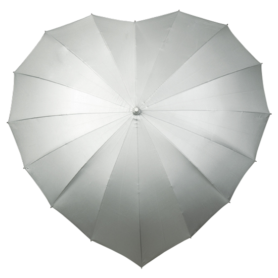 Silver Heart UV Umbrella