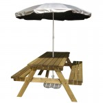 UV garden parasol bench and base