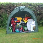 Tidy Tent outdoor garden storage tent with tos in