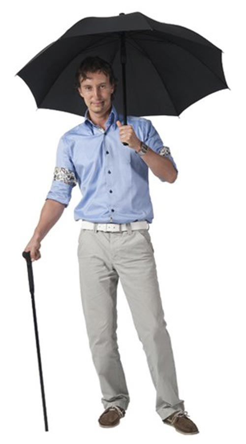 A grand idea so you can walk around in the rain.