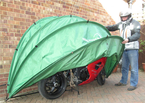 HideyHood for motorcycle storage.