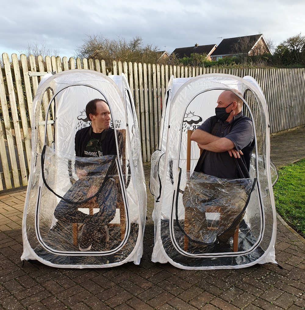 COVID Protective Shelter Pod in use at Care Home