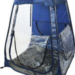 Pop-Up Under The Weather Soccer Tent royal blue windows open