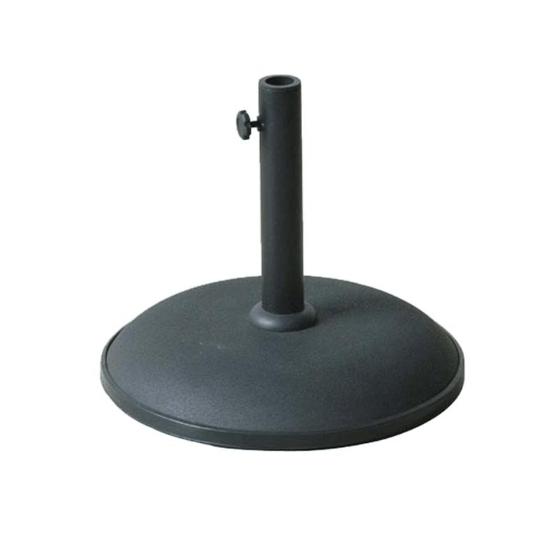 garden parasol concrete stand black