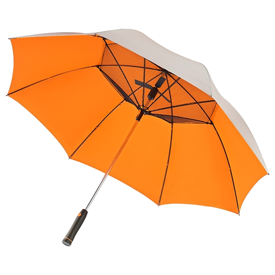 cooling fan umbrella open orange