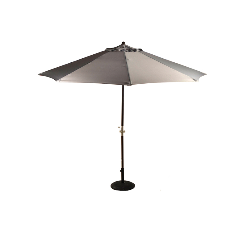 Large Wood Crank Parasol