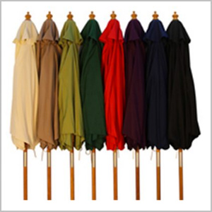 Wood Pulley Parasols 2.5m various colours