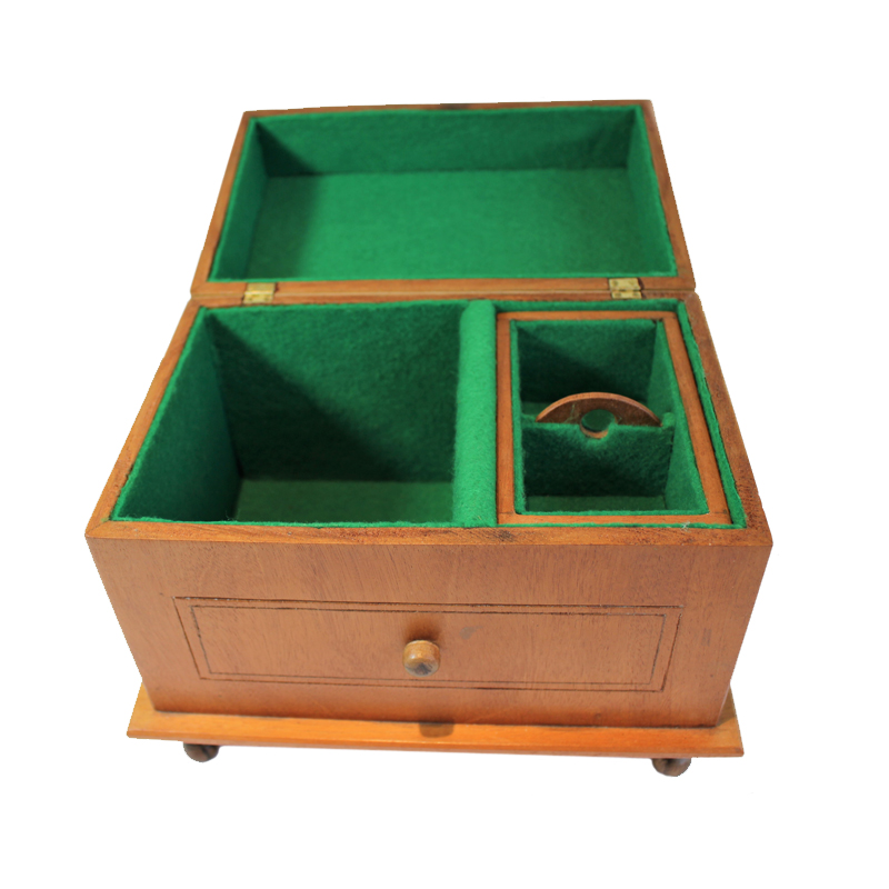 Mahogany Jewelry Box Open