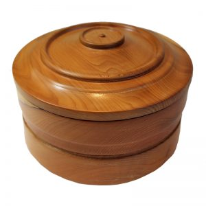 Round Wooden Pot Yew