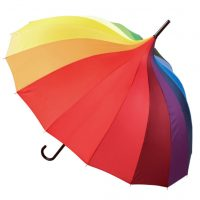 Rainbow Pagoda Colourful Umbrella