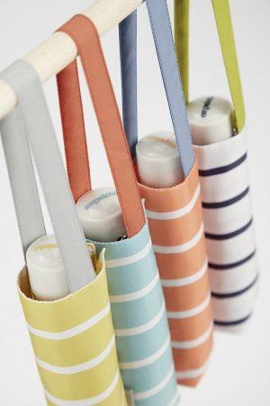 ezpeleta striped uv compact umbrella