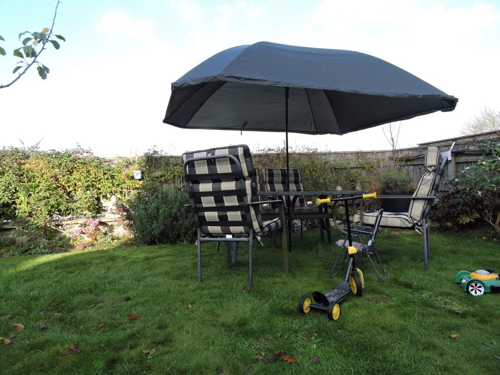 Umbrella Tent as garden parasol