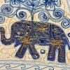 Indian Garden Parasol Design 3 Close-Up 1