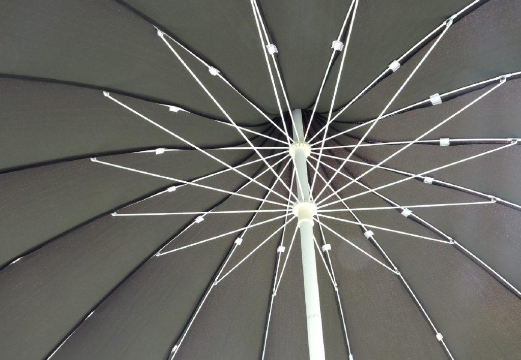Pagoda Garden Parasol Canopy Underside - Cave Innovations