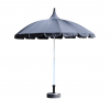 All Black Pagoda Garden Parasol