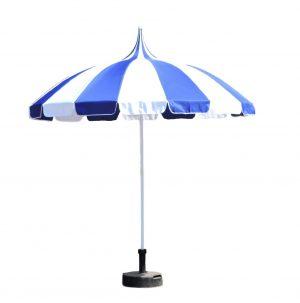 blue & white pagoda garden parasol