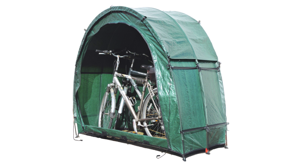 Bike Storage TidyTent TRIO with two bikes