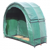 Outdoor Storage Tent TidyTent TRIO open empty with roof hood