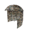 Camo Fishing Umbrella with Shelter side view