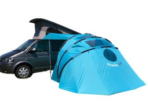 Campervan Awning Tent SheltaPod blue