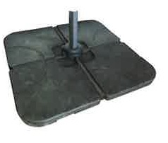 Optional 100 kg parasol base weights