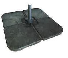 Optional 100 kg parasol base weights