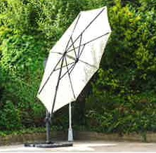 3.5m cantilever parasol angle tilted